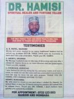 Dottore tradizionale - annuncio con testimonianze su quotidiano nazionale