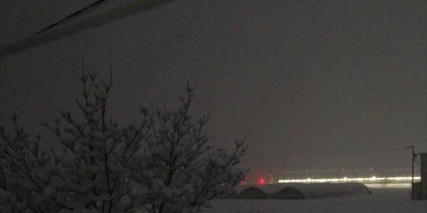 雪の夜明け前。大糸線‥アルプス・オリエント急行