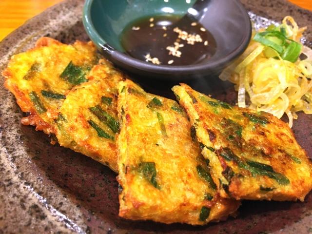 韓国料理チヂミ