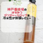 神戸養蜂場のはちみつジンジャーシロップを冷え性が体験レビュー購入するならココ!