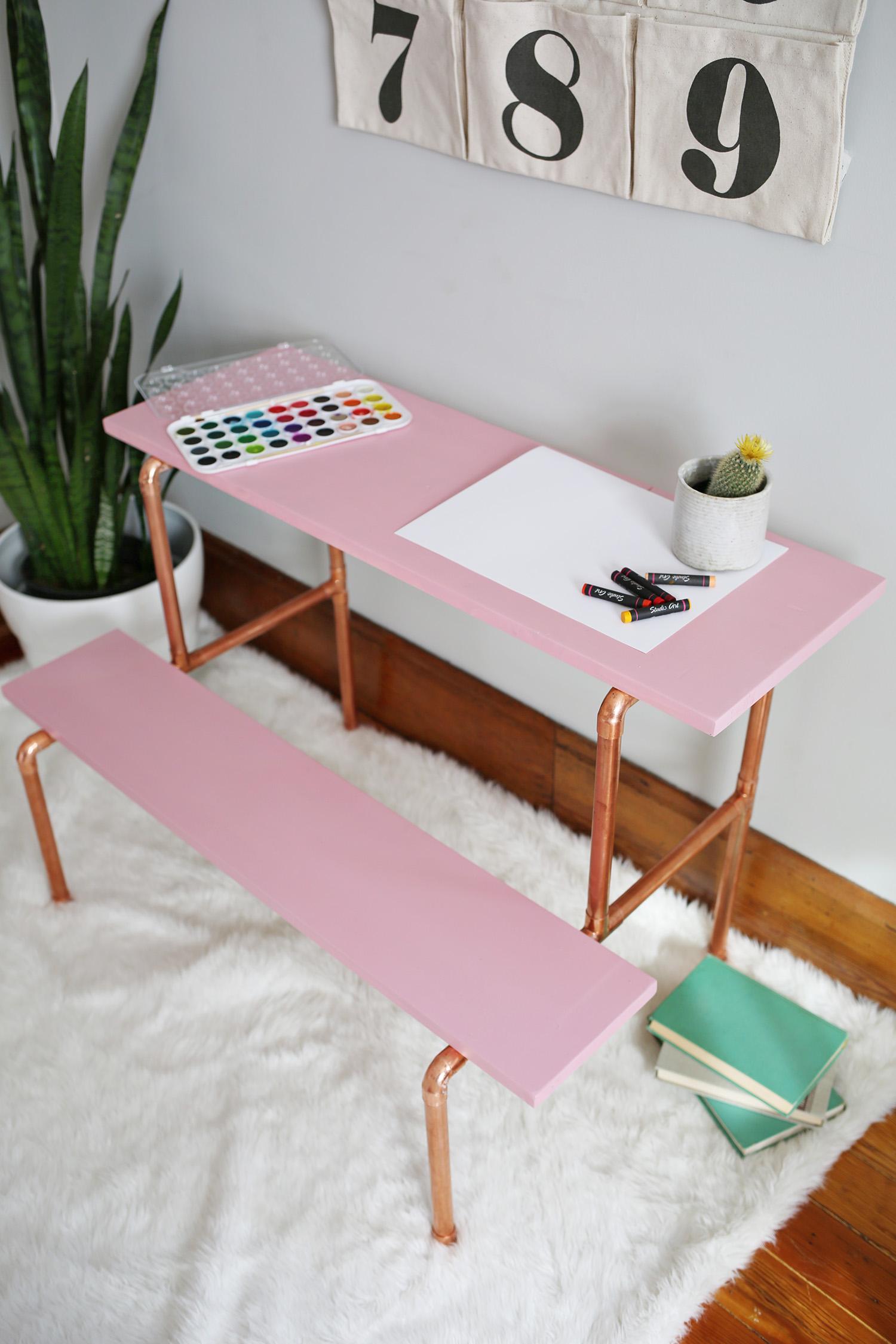 Copper Pipe Child S Desk Diy A Beautiful Mess