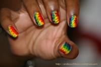 Tie Dye nails  .*`*.  meh.*`*.