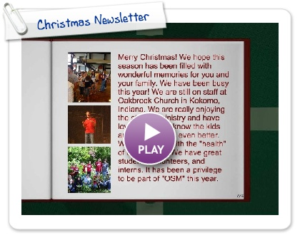 Click to play Christmas Newsletter