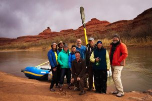 paddlers at Mexican Hat