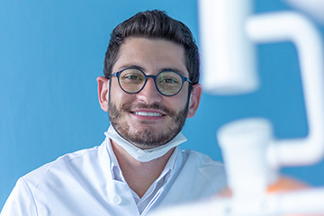 Dentist with glasses