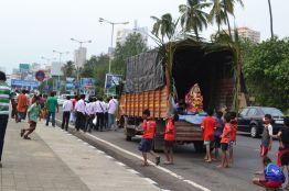The Ganesh Festival in the Streets/ Das Ganesha Festival in den Strassen Mumbais