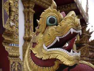 Dragons are in front of many temples