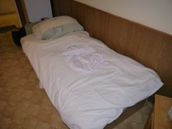 """Rumanian """"mirror bed sheet"""" (with a typical hole in he middle)"""