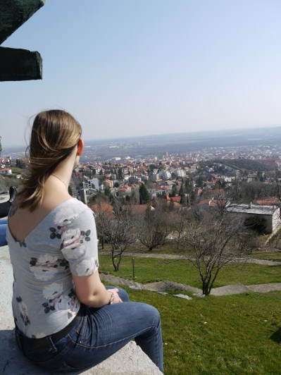 View from a mountain top in Pécs, Hungary