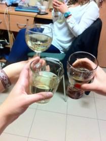 Drinking Hungarian wine