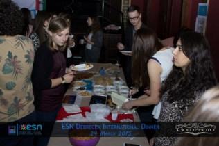 Attending ESN's international dinner