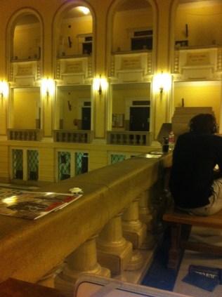 Studying inside the beautiful University of Debrecen