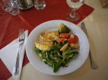 Vegetarian lunch Hungarian style: could be better