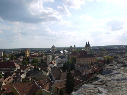 View from Eger castle
