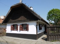 Farmer's house with a thatched roof