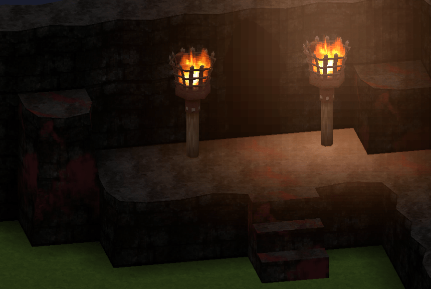 "Smile Game Builder High Quality Assets: ""Old Ruins"" Bloddied Cave Entrance"
