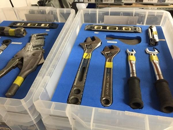 5S改善事例・倉庫工具定位置化