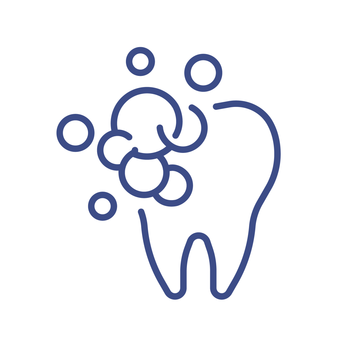 tooth icon with bubbles