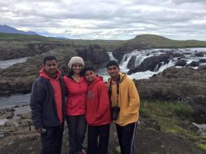 Lava Field waterfall