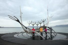Sculpture of Sun Voyager in Reykjavik