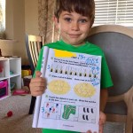 Big Man's First Math Test! He did great!
