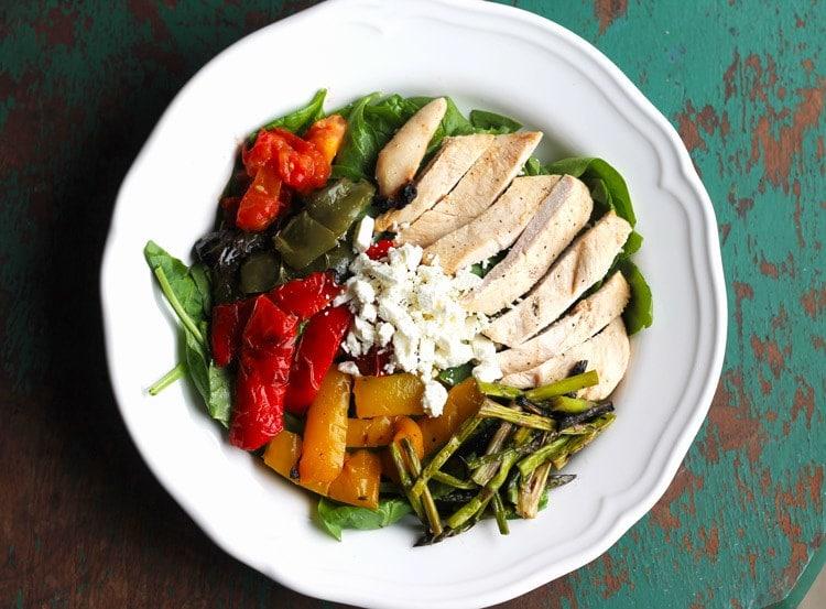 My Favorite Grilled Chicken and Veggie Salad