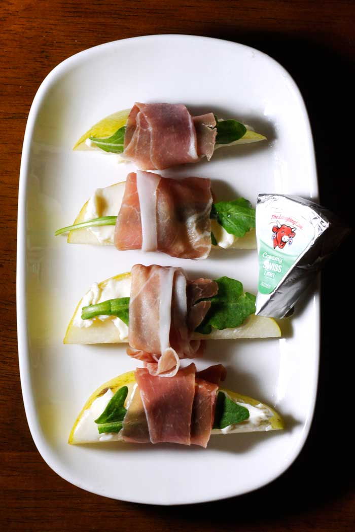 The Laughing Cow Pear Prosciutto Bites