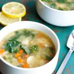 Clean Eating Lemon Chicken Quinoa Soup