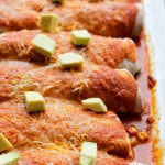 Freezer Friendly Zucchini and  Chicken Enchiladas