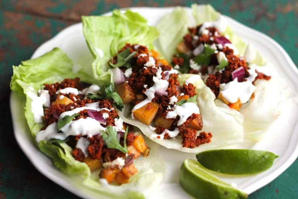 Chorizo and Potato Taco Lettuce Wraps