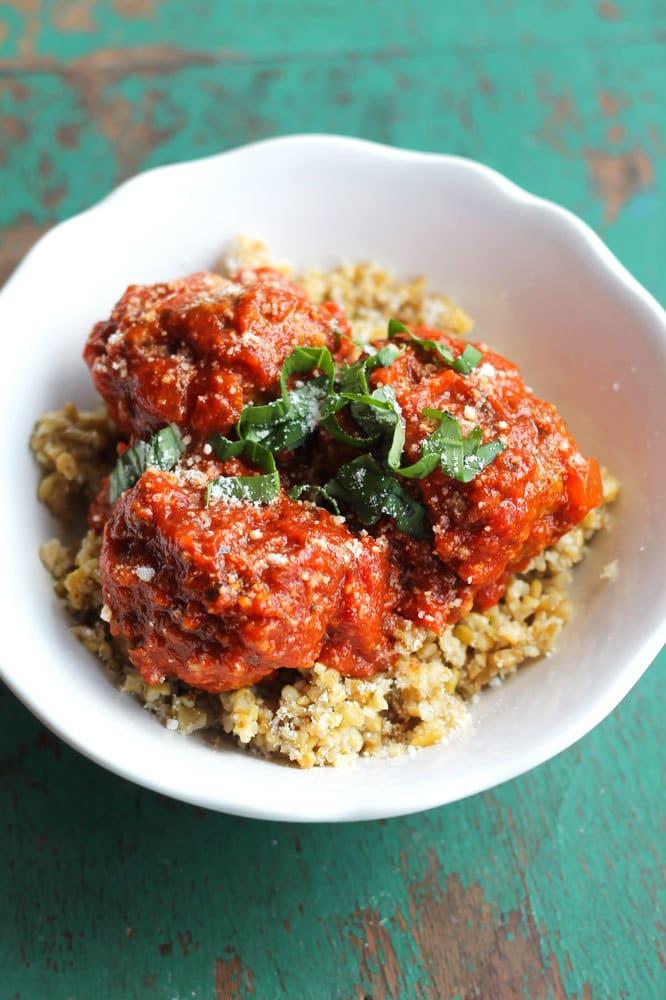 Italian Meatball Quinoa Bowls