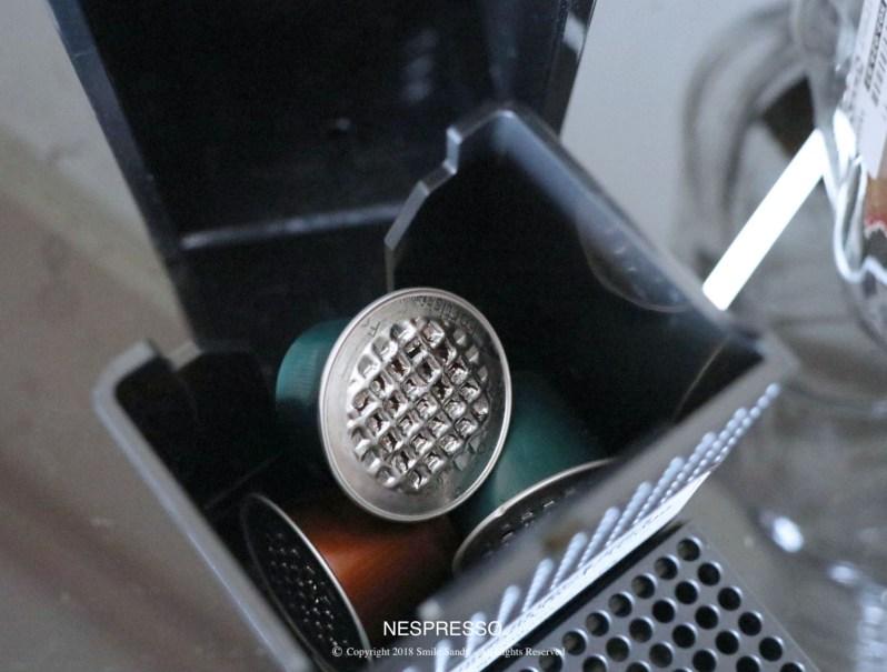 Nespresso Essenza Mini 膠囊咖啡機-用過的膠囊長這樣