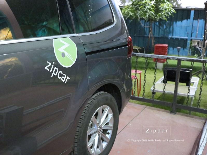 ZIPCAR的貼紙很方便找車