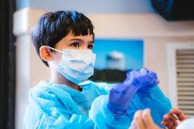 Child in dental office