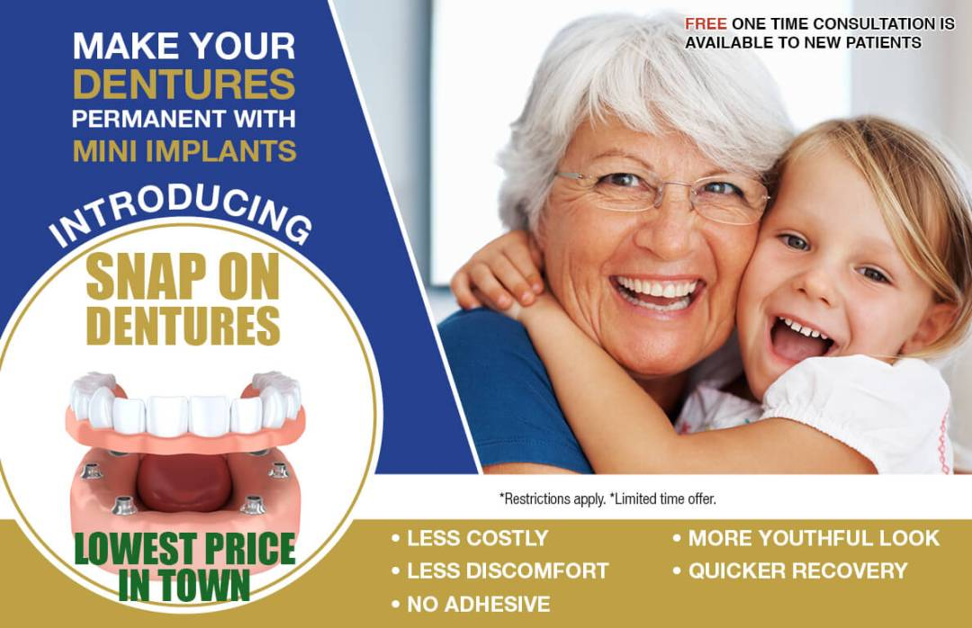Snap on Dentures | Smiles Today Dental