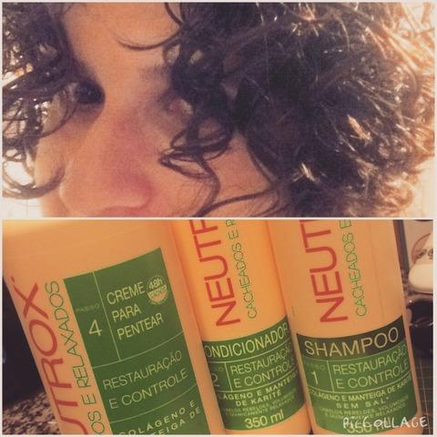 linha neutrox cabelos cacheados