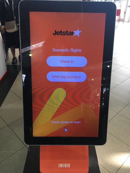 Jetstarチェックイン