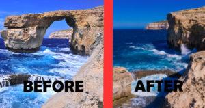 マルタ共和国ゴゾ島アズール・ウィンドー