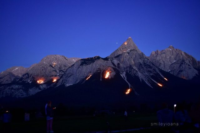 Themed Mountain Fires at Zugspitze Arena in Tirol