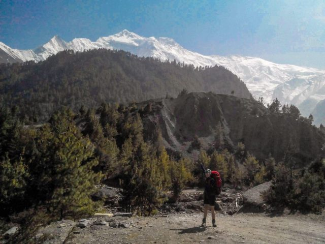 Nepal high altitude   Annapurna II in the back with 7937 m