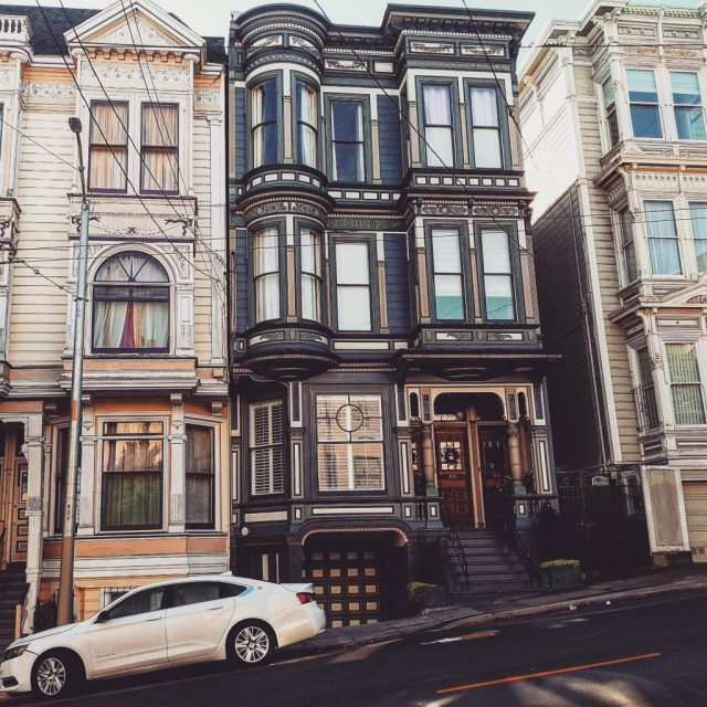 San Francisco Pacific Heights inclined street
