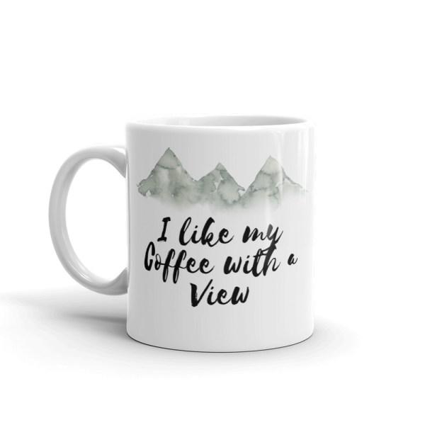 smileyioana.com | I Like My Coffee With a View- White Coffee / Tea Mug