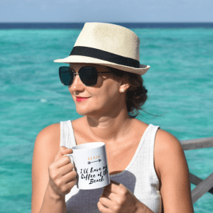 smileyioana.com | I'll have my coffee at the Beach - Coffee Mug