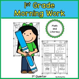 1st Grade Morning Work - Distant Learning (1st Quarter)