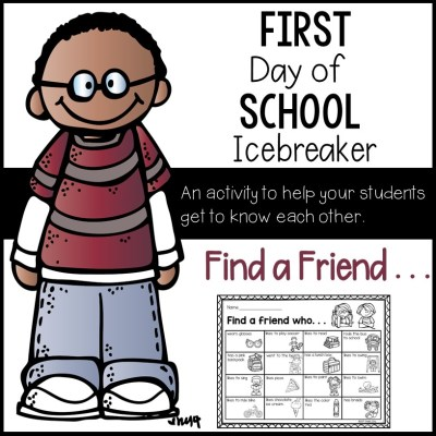 First day of school icebreaker activity for second grade