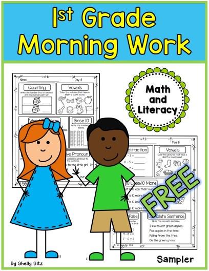 morning work first grade free
