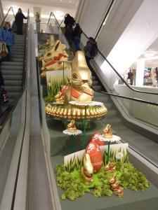 Déco de Pâques à la Galleria, le Printemps local... ça c'est du gros lapin Lindt !
