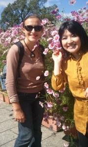 Misako et moi dans le jardin botanique !