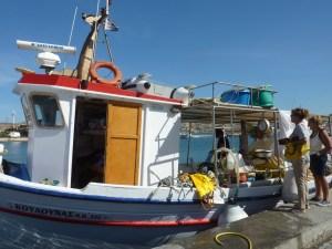 Des pêcheurs vendent le produit de leur pêche