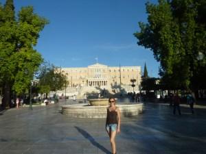 La place Syntagma et le Parlement au fond